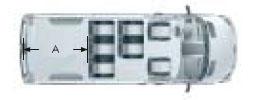 Микроавтобус Мерседес Бенц Спринтер, два ряда кресел